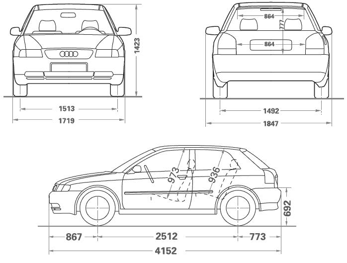 Audi A3 1996 2003 8l Pełne Dane Techniczne I